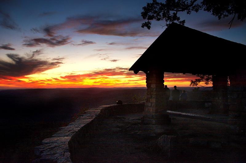 white rock mountain helter sunset